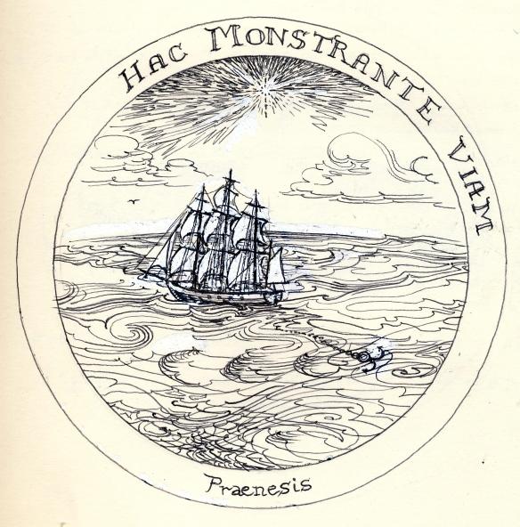 Rosicrucean emblem 1 - a Ship trailing anchor