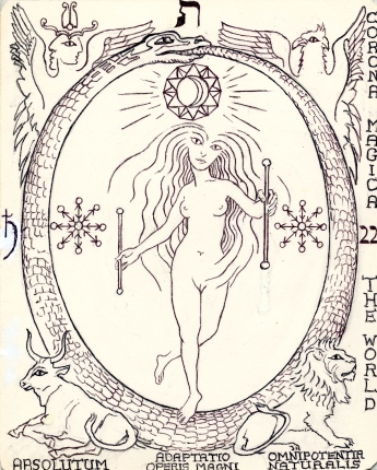 The World Dancer, Tarot key 21