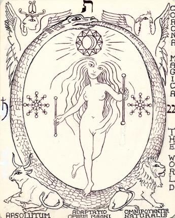 The World Dancer, Tarot key 21