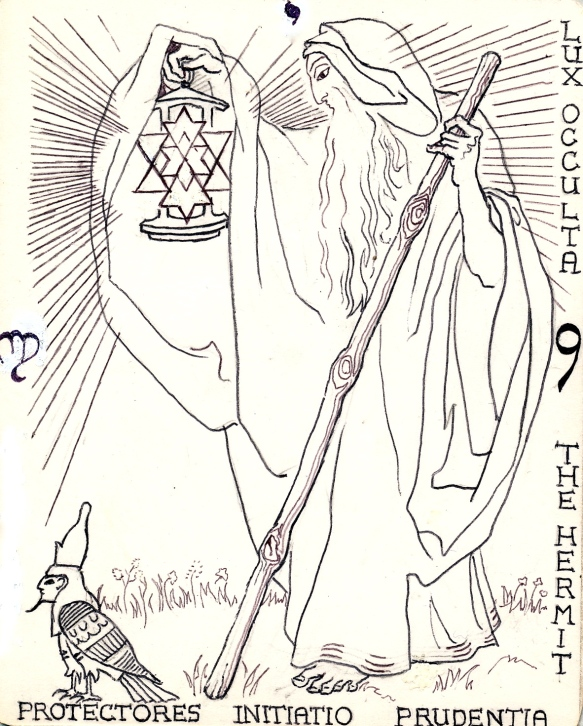 The Hermit:  key nine of hermetic Tarot