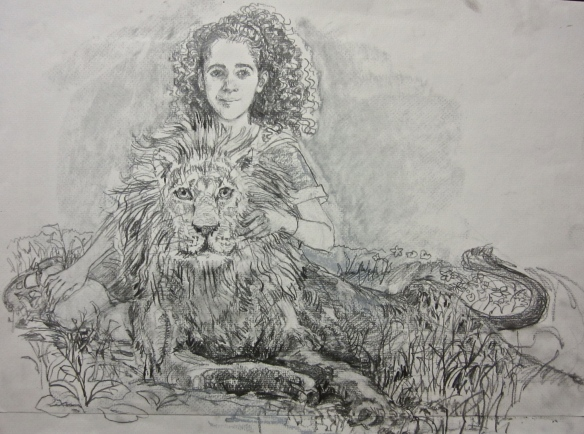 Annika and Aslan sketch