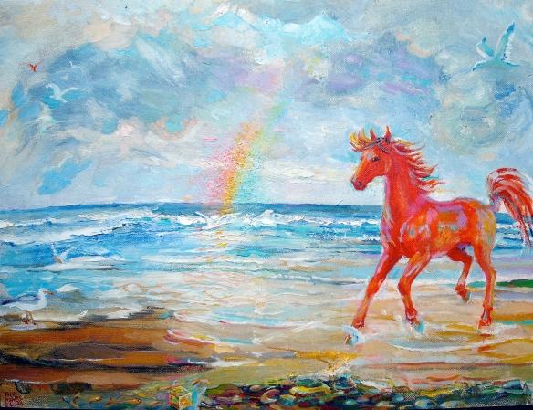 red horse & rainbow 2008