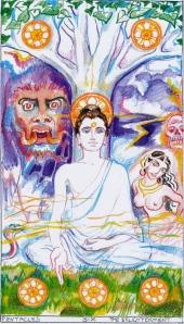 Sacred India Tarot 6 disks, buddha's enlightenment copy