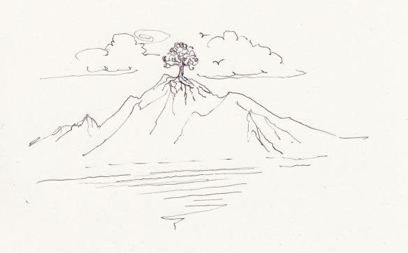 tree on mountain