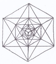 Point from in between - the centre is the corner edge of the cube of space