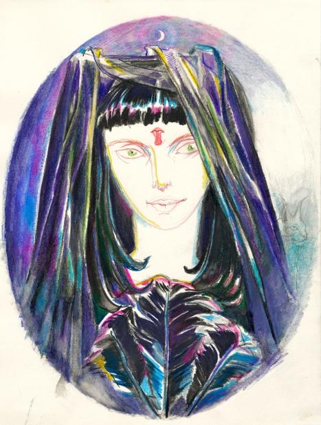 Priestess of black Isis