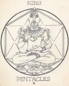 Arcana Pentacles King-janeadamsart