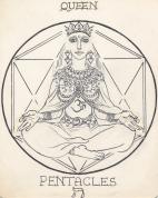 Arcana Pentacles Queen-janeadamsart