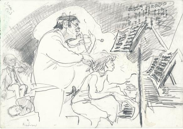 Fred and Jane tackle Cesar Franck violin sonata - 1987