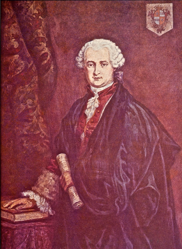 "18thC portrait of Master R.  It is signed by ""A.Knapp"".  The reproduction carries this information:  ""It is generally suppoosed that this mysterious adept was born in 1710, but the Countess v.Gergy declared she had seen him during that year in Venice, and  he appeared to be between 45 and 50 years old at that time.  While the church register at Eckenforde contains a record of his death in 1784, it is known that he was seen upon several occasions subsequent to that date, having attended a Masonic conference in 1785, and having been recognised in Venice in 1788.  The last historical mention of the Comte was in 1822, at which time he was presumably on the eve of embarking for India."""