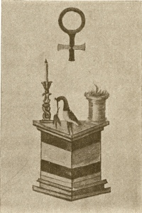 trinosofia altar bird torch, 2