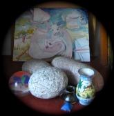 fool, lamb and pebbles