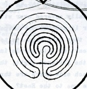 labyrinth cross, like a core