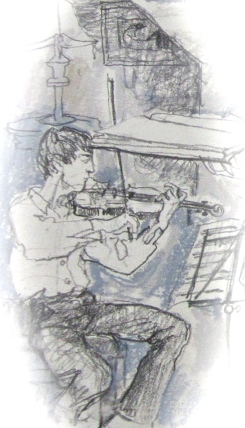 sketch of 1st violin, orchestra of age of enlightenment