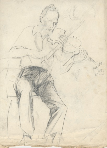Peter, violin sketch