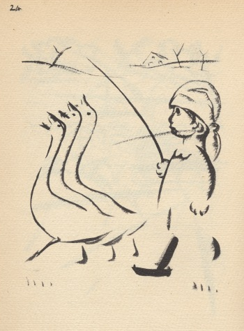 Child with geese by Szegedy Szuts