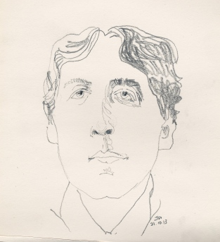 oscar wilde drawn upside down
