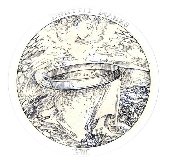 Rosicrucean emblem 8 - angel sieves wheat from chaff