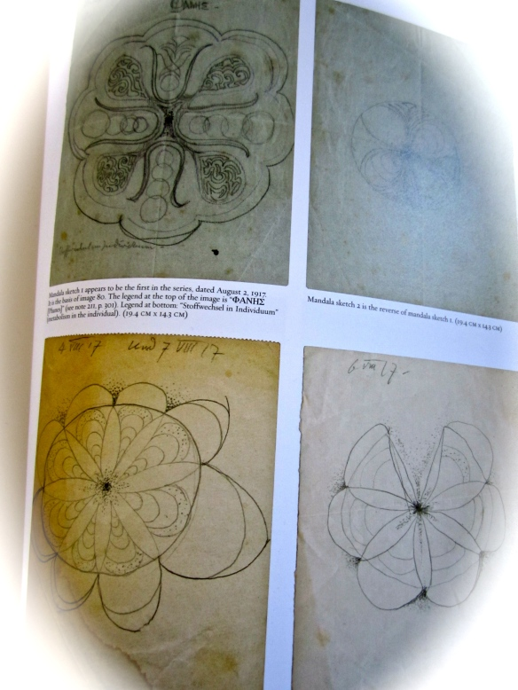 Jung's mandala sketches, red book