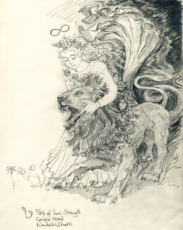 Tarot Key 8 - Lady with Lion - soul strength