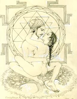 Sri Chakra lovers lotus