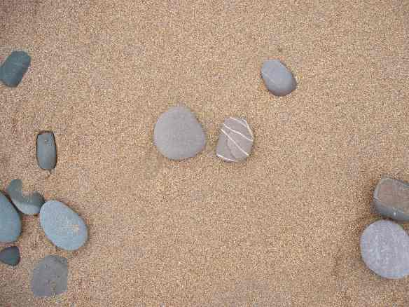 sand and sea stones