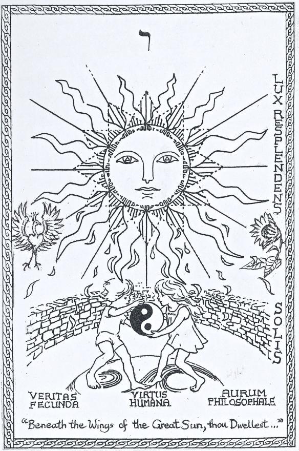 Sun phoenix card - Version 2
