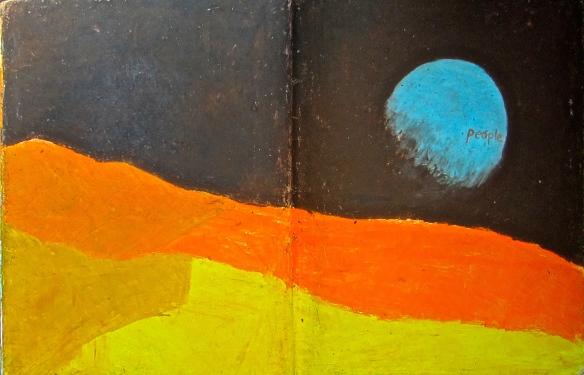 liverpool sketches 6, 1969, moon landing