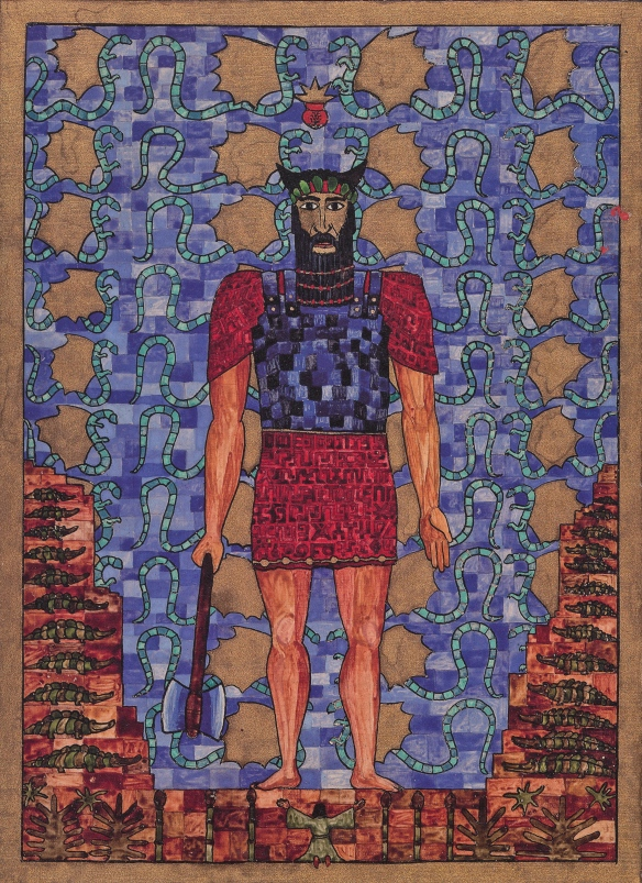 red book - Jung's painting of Idzubar the God of the ancient world