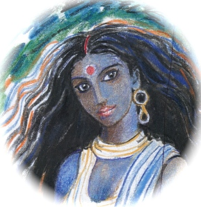 Sacred India Tarot dark queen