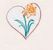 daffodil glyph - Version 2