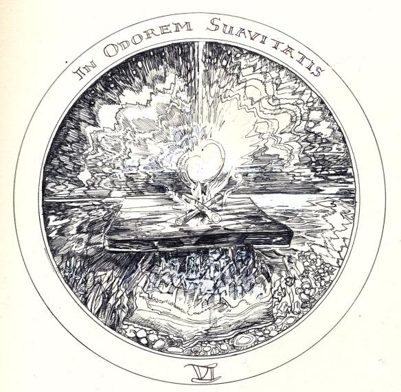 sweet savour Rosicrucean Emblem 6