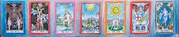 bota tarot tableau, keys 15-21