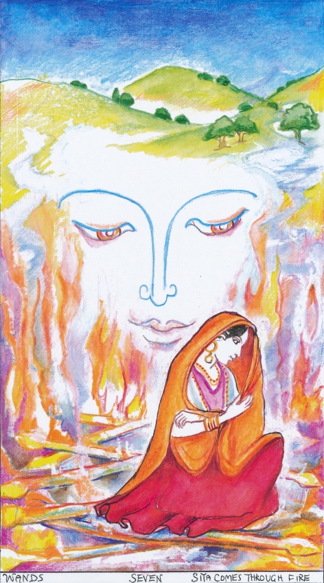 Sacred India Tarot - 7 of Staves