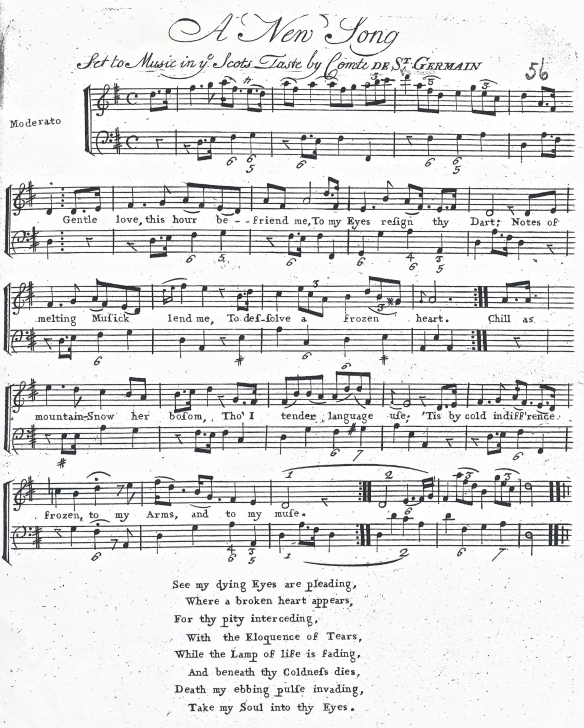 Song in Scottish mode, by Master R, 18th century