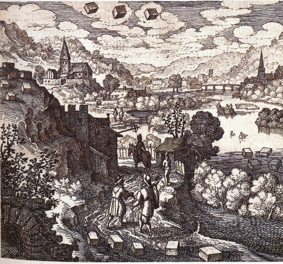 The treasure in the land: engraving from alexander roob's alchemy & mysticism