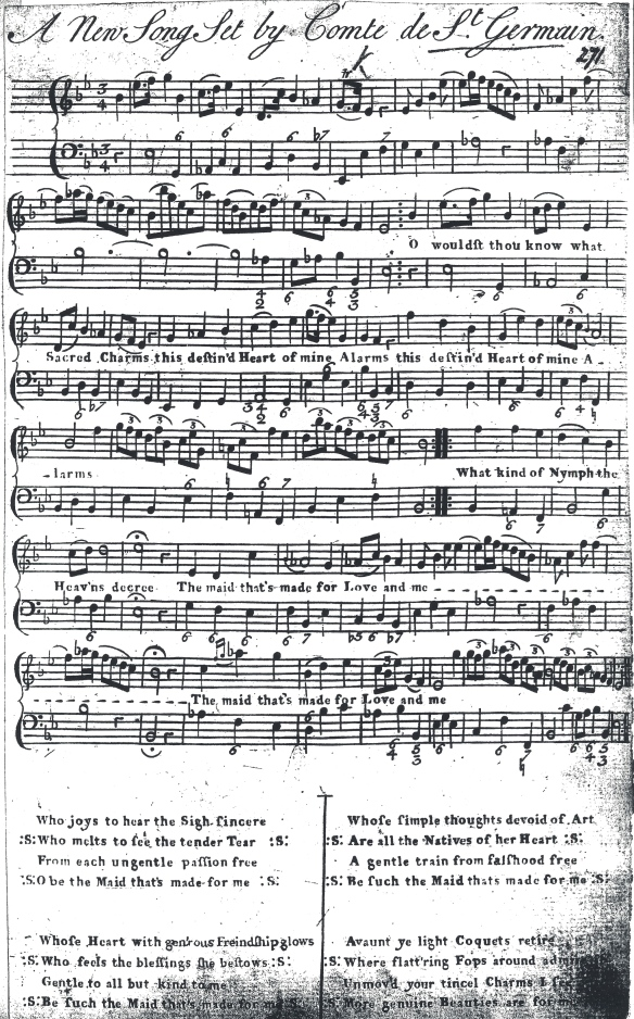 "Song by Master R - ""O wouldst thou know what Sacred Charms ..."" xeroxed from the collection of his music in the British Library"